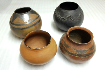 Beerpots (Front, from left: Sotho, Tswana. Back, from left:: Venda, Zulu